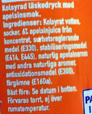 Fanta Orange - Ingredients - sv