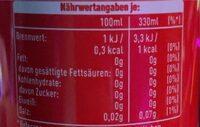 Cola Cherry Zero - Valori nutrizionali - de