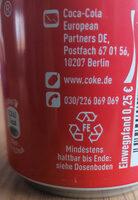 Cola Cherry Zero - Istruzioni per il riciclaggio e/o informazioni sull'imballaggio - de