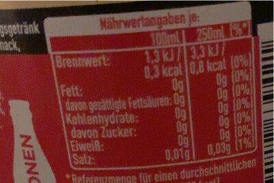 Coca cola zero sugar vanilla - Valori nutrizionali - de