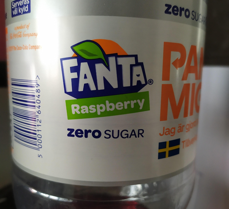 Fanta Zero Raspberry - Produit - sv