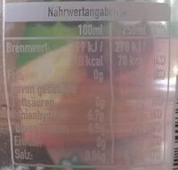 Fuze tea - Ingredients - en