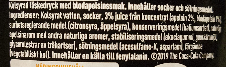 Fanta Dark Mystery Blood Orange - Ingrediënten - sv