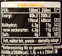 Fanta Dark Mystery Blood Orange - Nutrition facts