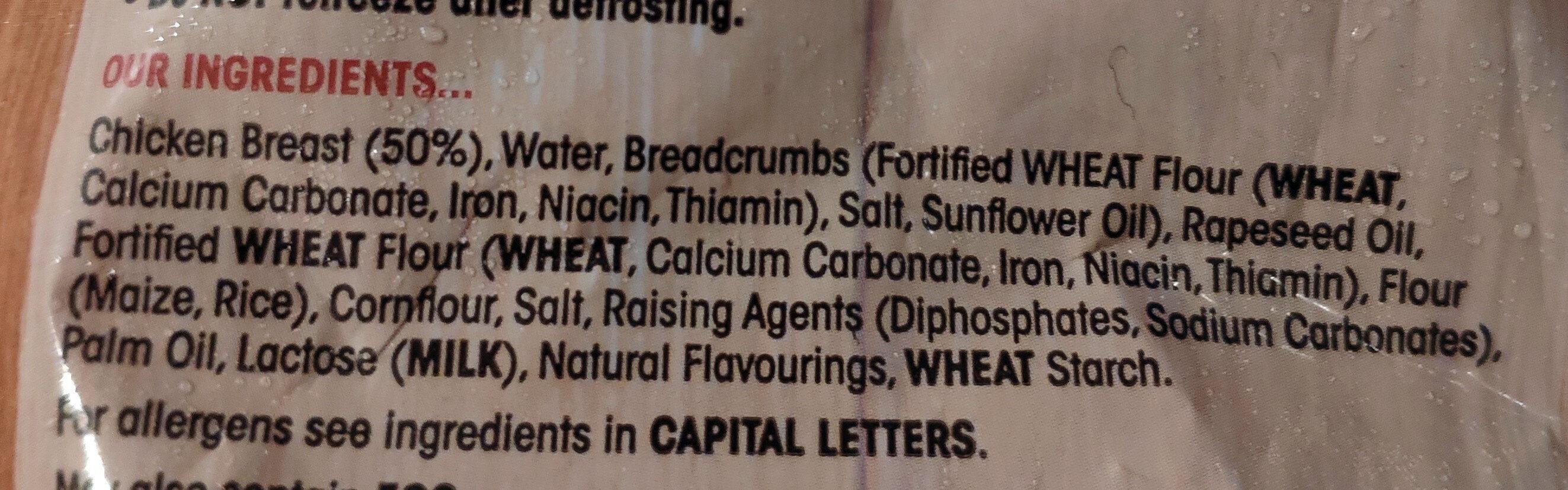 Chicken Dippers - Ingredients - en