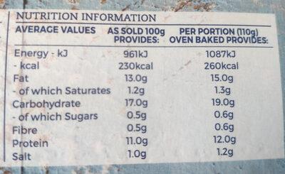 Battered Cod Large Fillets - Nutrition facts