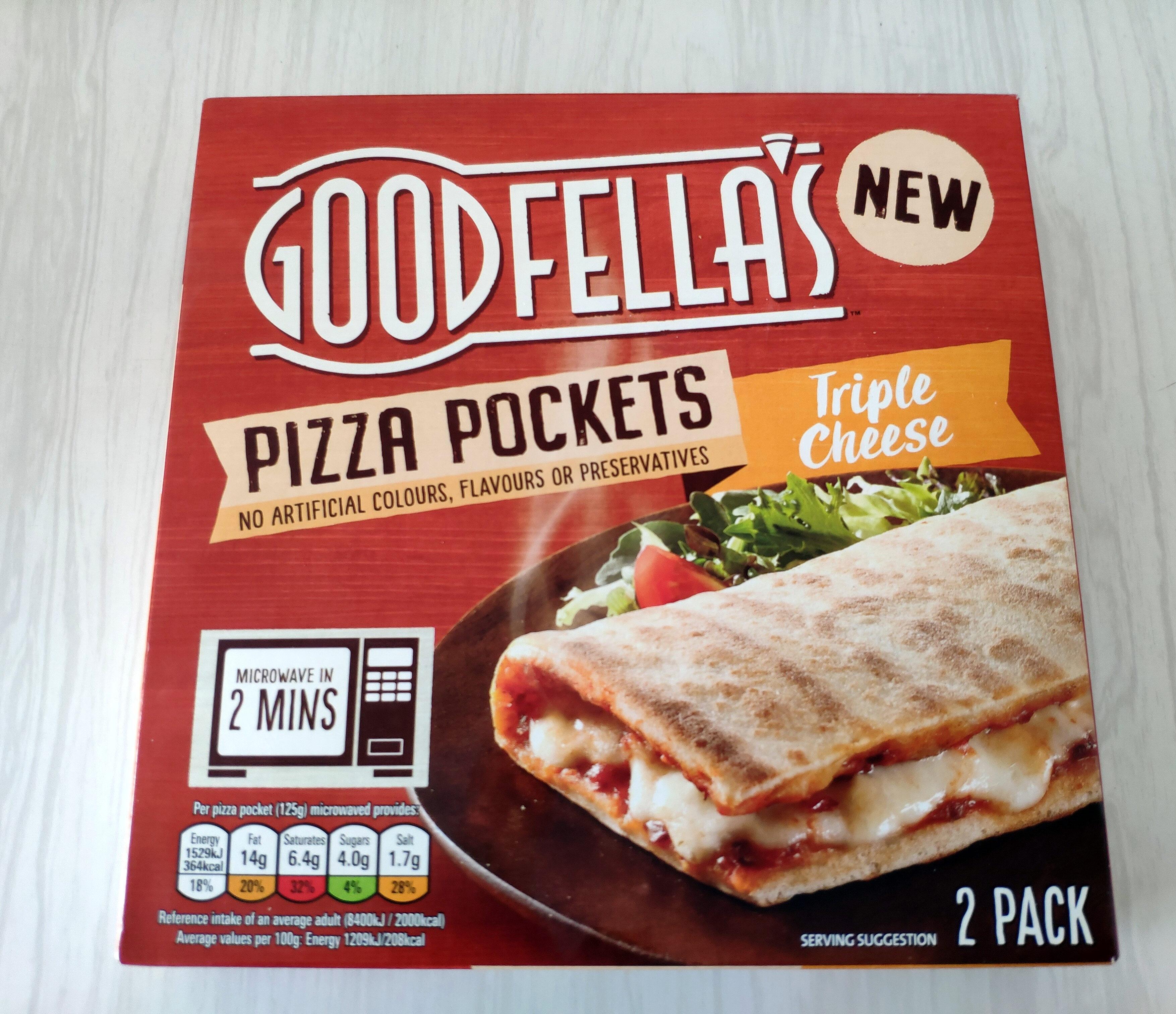 Pizza Pockets Triple Cheese - Produit - en