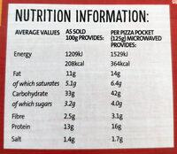 Pizza Pockets Triple Cheese - Informations nutritionnelles - en