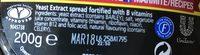 Marmite Squeezy 200G - Ingrediënten