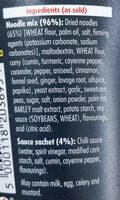 Pot Noodle King Bombay Bad Boy - Ingredients