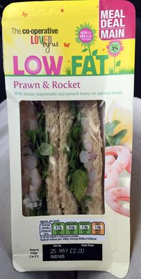 low fat prawn & rocket - Product - en