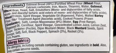 low fat prawn & rocket - Ingrediënten