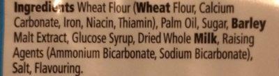 Tesco Malted Milk Biscuits 200G - Ingredients
