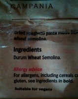 Tesco Short Spaghetti - Ingredients