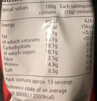 Tomato purée - double concentrated - Nutrition facts - en