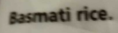 Basmati Rice - Ingredients