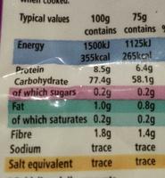 Basmati Rice - Nutrition facts