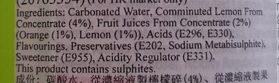 TESCO Cloudy Lemonade - Ingrediënten - en