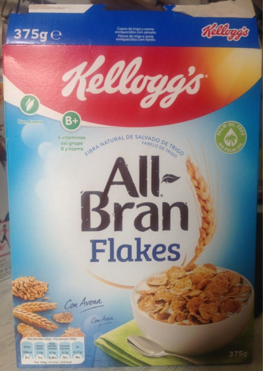 Cereal Kellogg's Bran Flakes 375GR - Producto