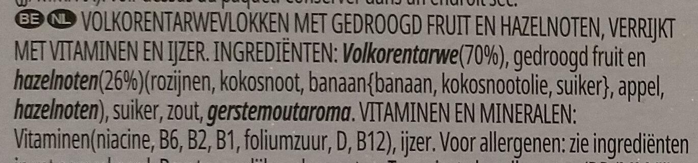 Céréales All-Bran Fruit 'n Fibre - Ingrediënten - nl