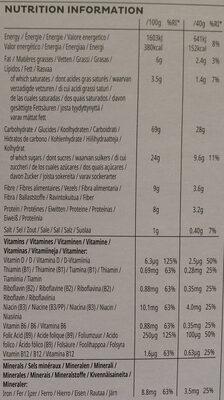 Céréales All-Bran Fruit 'n Fibre - Voedingswaarden - fr