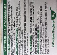 Cereais Kelloggs Special K - Ingredients