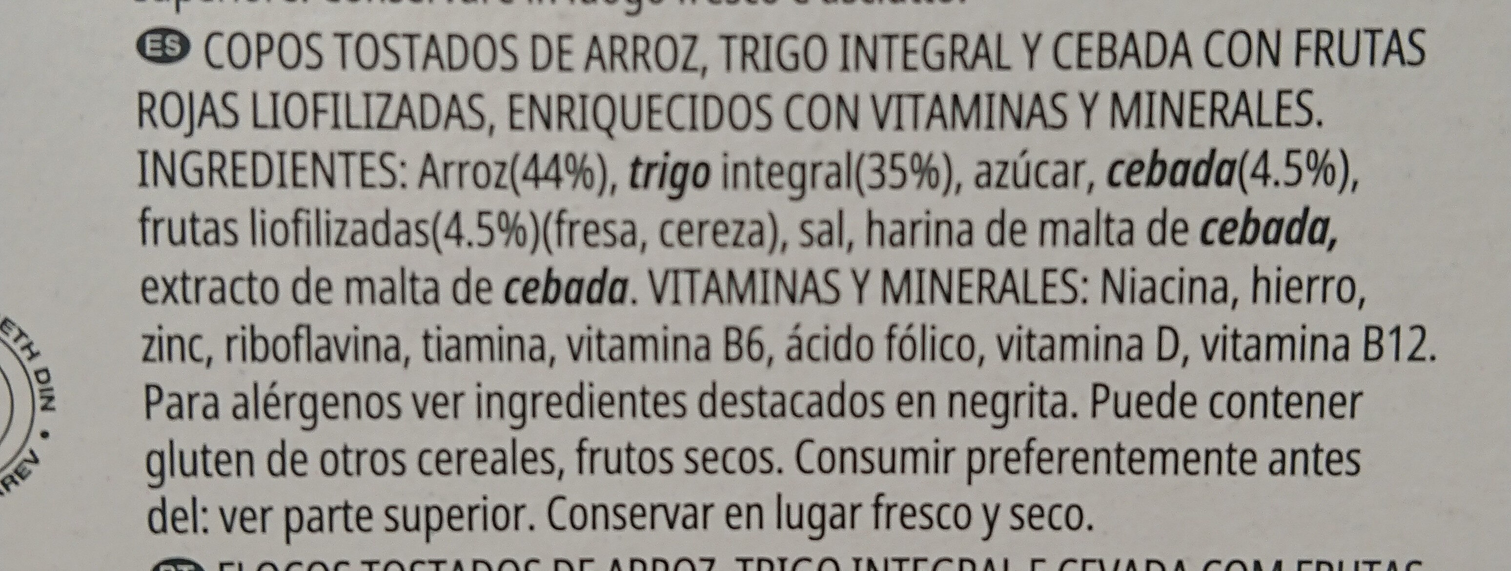 Special Kellogg's red fruits - Ingredients - it
