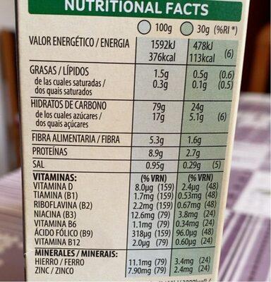 Special Kellogg's red fruits - Informação nutricional