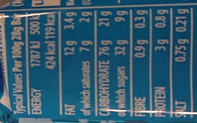Rice Krispies Squares Cereal Bar - Informations nutritionnelles - en