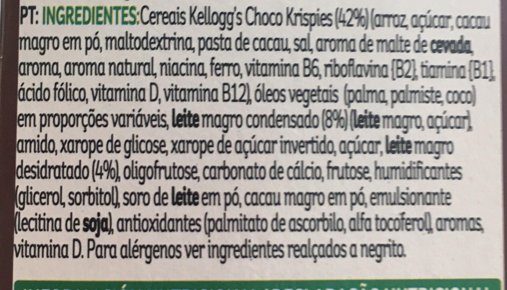 Barrita De Arroz Tostado Con Cacao Y Leche. - Ingrédients - en