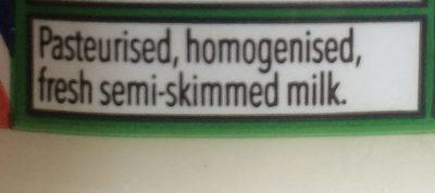 Fresh semi-skimmed milk - Ingrédients