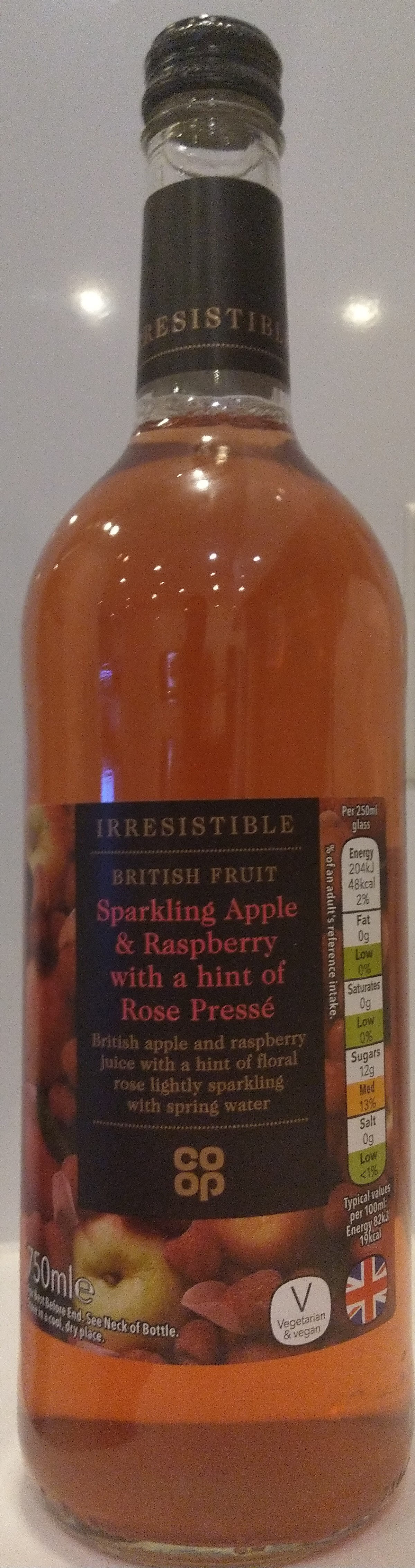 Irresistible Sparkling Apple & Raspberry with a hint of Rose Pressé - Product