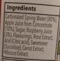 Irresistible Sparkling Apple & Raspberry with a hint of Rose Pressé - Ingrediënten