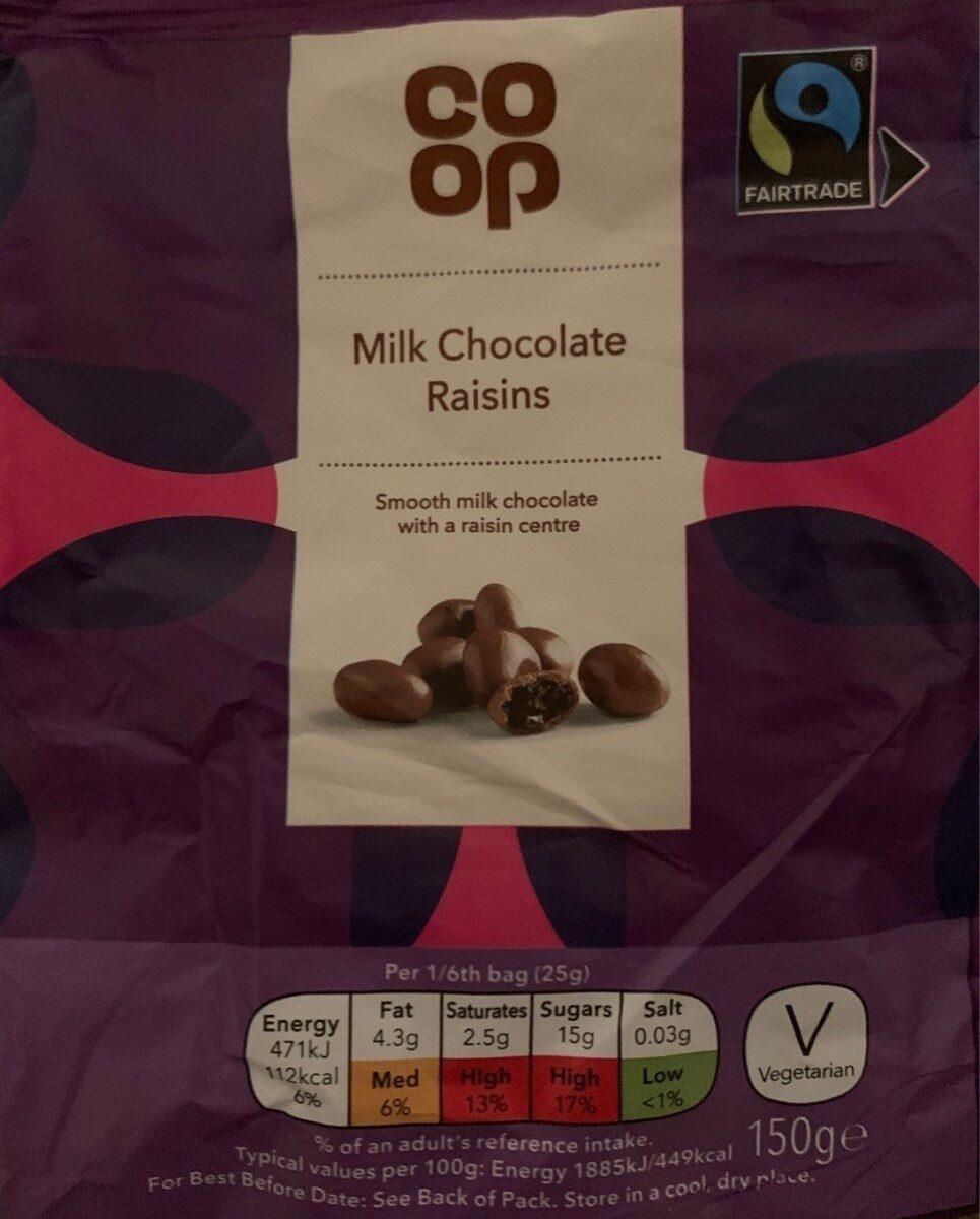 Milk Chocolate Raisins - Prodotto - en