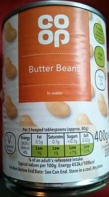 Butter Beans in water - Product
