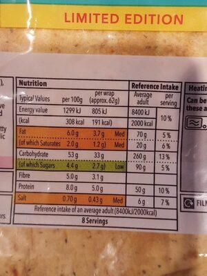 Tomato and herb wraps - Voedingswaarden - en