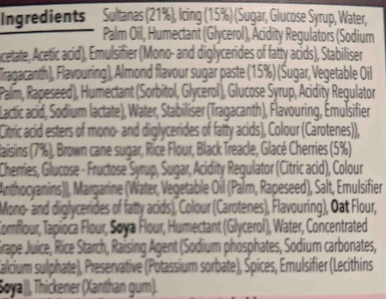 spiced fruit cake - Ingredients - en
