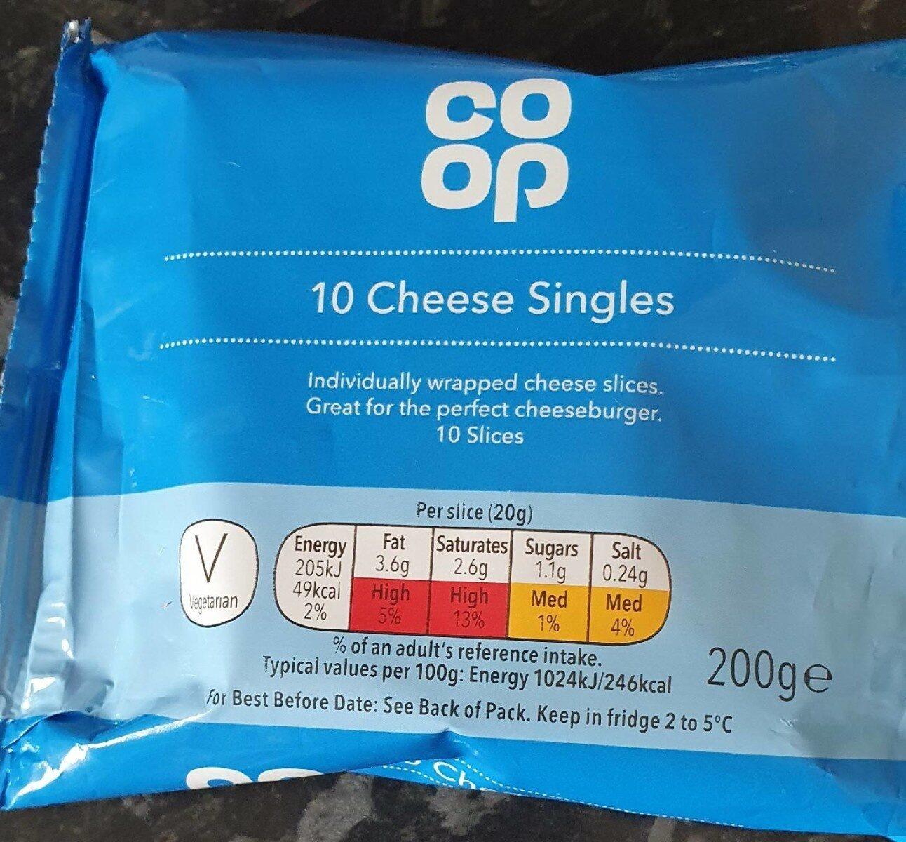 Coop 10 cheese singles - Product - en