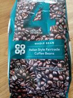 Italian style Fairtrade Coffee Beans - Product