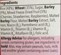 Special flakes with red berries - Ingrediënten - en