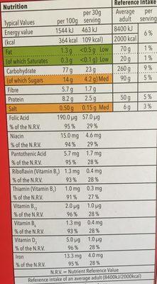 Special flakes with red berries - Voedingswaarden - en
