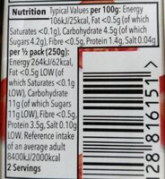 Italian Passata - Nutrition facts - en