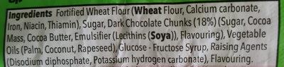 GRO Dark Choc Chunk Cookies - Ingredients - en