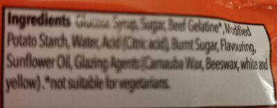 Cola Bottles - Ingredients - en