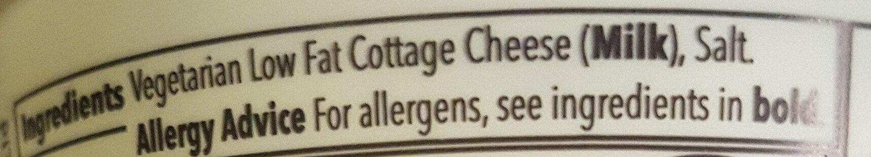 Natural cottage cheese - Ingredientes - en