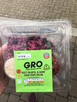 Beetroot falafel and giant cous cous salad - Product - en