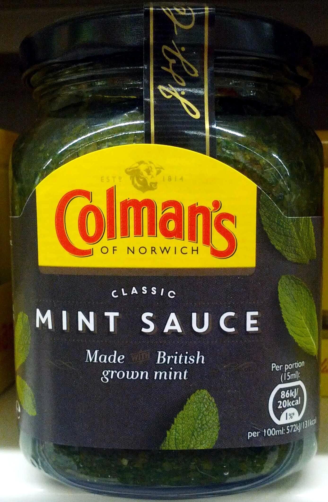 Mint sauce - Prodotto - en
