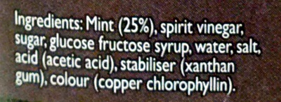 Classic Mint Sauce - Ingredients