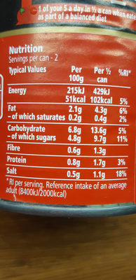 HEINZ cream of tomate soup - Valori nutrizionali - en