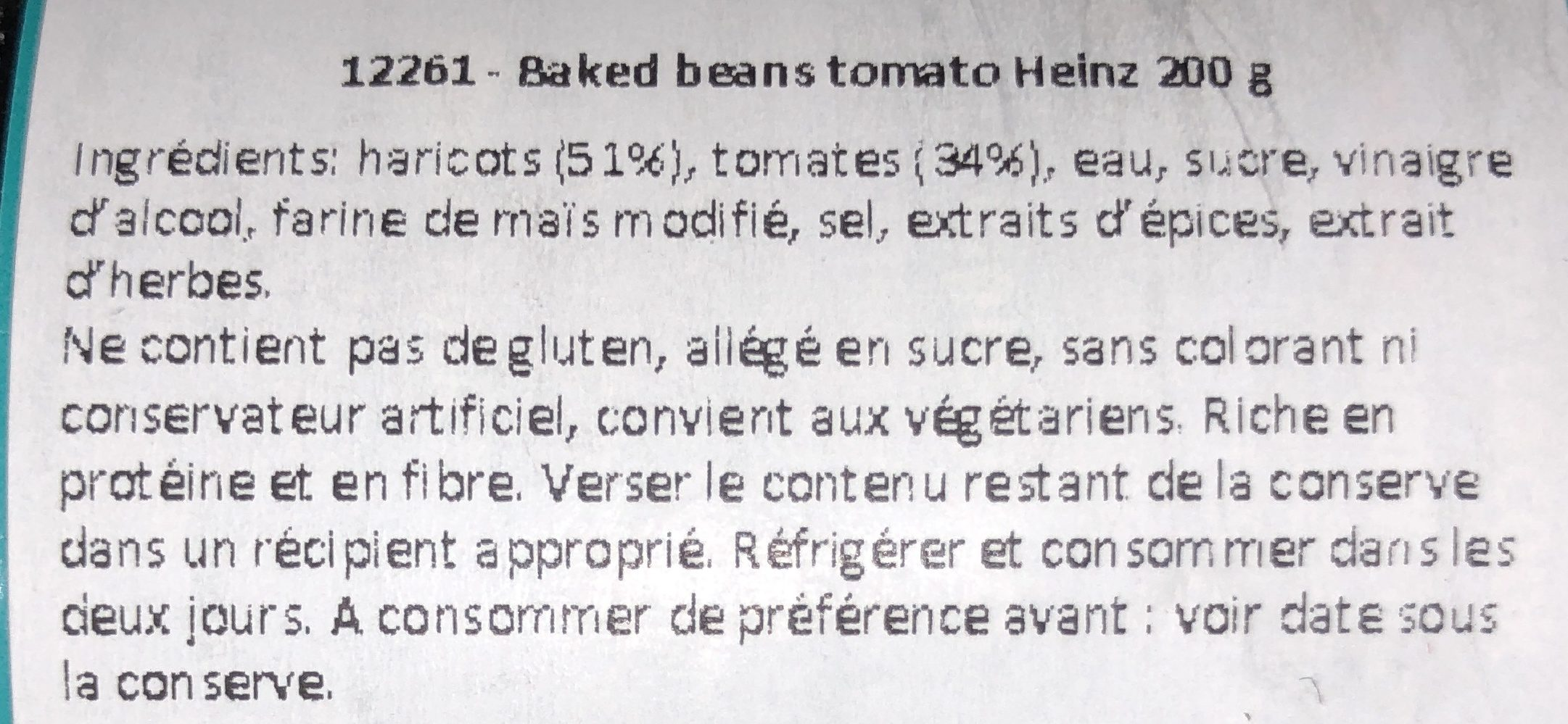 Heinz Beanz - Ingredients